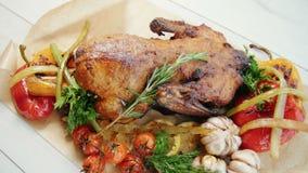 Pollo con le verdure archivi video
