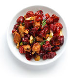 Pollo con pimientas de chile de Sichuan Imágenes de archivo libres de regalías