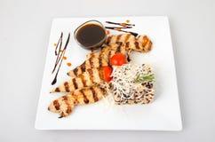 Pollo con riso Fotografie Stock Libere da Diritti