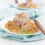 Pollo cordon bleu con la quinoa Immagine Stock Libera da Diritti