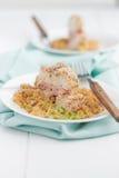 Pollo cordon bleu con la quinoa Fotografia Stock Libera da Diritti