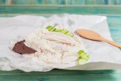 Pollo cortado del Hainan-estilo con arroz adobado Imagen de archivo libre de regalías