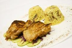 Pollo cotto con riso immagini stock libere da diritti
