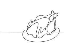 Pollo cotto sulla zolla royalty illustrazione gratis