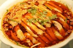 Pollo cotto a vapore con la salsa di peperoncino rosso Immagine Stock Libera da Diritti