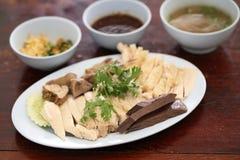 Pollo cotto a vapore gourmet tailandese dell'alimento immagine stock libera da diritti