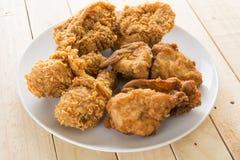 Pollo croccante fritto fotografia stock libera da diritti