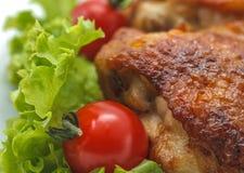 Pollo cucinato. fotografia stock