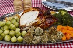 Pollo cucinato Immagine Stock