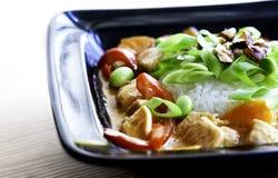 Pollo in curry rosso Fotografia Stock