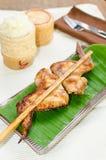 Pollo de asación con arroz pegajoso Imagen de archivo libre de regalías
