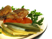 Pollo de carne asada Fotografía de archivo
