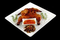 Pollo de carne asada en un disy Foto de archivo libre de regalías