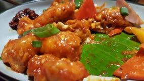 Pollo de Kung Pao imágenes de archivo libres de regalías