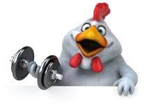 Pollo de la diversión - ejemplo 3D Imagen de archivo