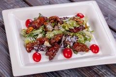 Pollo de la ensalada en salsa del teriyaki Fotografía de archivo libre de regalías
