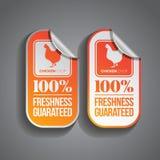 Pollo de la etiqueta engomada de la comida libre illustration