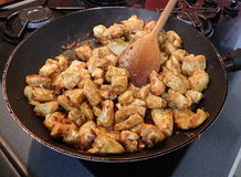 Pollo de la fritada Imagen de archivo