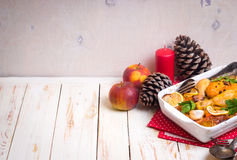 Pollo de la Navidad Fotos de archivo