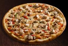 Pollo de la pizza Foto de archivo libre de regalías