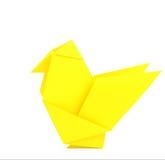 Pollo de Origami Fotografía de archivo