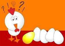 Pollo de Pascua con los huevos