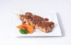 Pollo de Satay. Fotografía de archivo libre de regalías