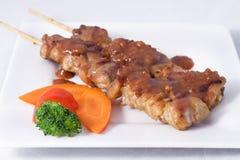 Pollo de Satay. Imagen de archivo