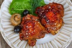 Pollo de Teriyaki Foto de archivo libre de regalías