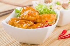 Pollo dei peperoncini rossi Immagini Stock