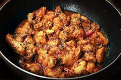 Pollo dei peperoncini rossi del pepe nero Fotografia Stock