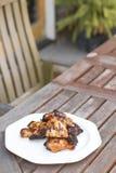 Pollo del Bbq del albaricoque del Chipotle Imágenes de archivo libres de regalías