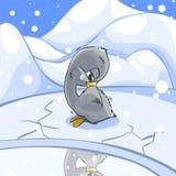 Pollo del cisne congelado. stock de ilustración