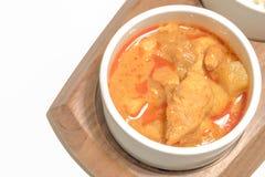 Pollo del curry con il riso del gelsomino Fotografia Stock Libera da Diritti