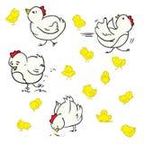Pollo del fumetto Immagini Stock