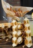 Pollo del glutine e panino liberi della cialda Fotografia Stock