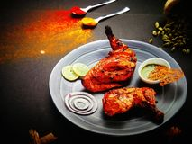Pollo del norte de Tandoori del indio fotos de archivo libres de regalías