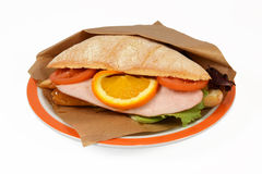 Pollo del panino. Immagine Stock