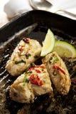 Pollo del peperoncino rosso dell'aglio Immagine Stock