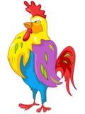 Pollo del personaggio dei cartoni animati Immagini Stock
