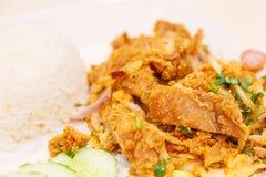 Pollo del preparato del riso grigliato Immagine Stock Libera da Diritti