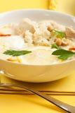 Pollo del yogur y sopa del arroz Fotografía de archivo libre de regalías