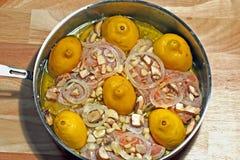Pollo dell'aglio del limone immagini stock libere da diritti
