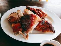 Pollo della griglia Immagini Stock