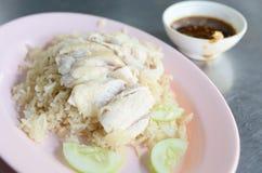 Pollo deshuesado, cortado del Hainan-estilo foto de archivo