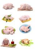 Pollo di arrosto e del grezzo. immagine stock libera da diritti
