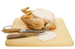 Pollo di arrosto intagliato fotografie stock libere da diritti
