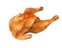 Pollo di arrosto isolato su bianco Fotografia Stock Libera da Diritti