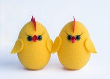 Pollo di giallo di Pasqua Fotografie Stock