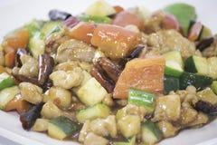 Pollo di Kung Pao Fotografia Stock